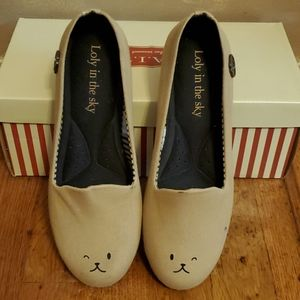 Loly in the Sky Modcloth bear loafer shoes size 7